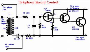 Build A Telephone Record Control Circuit Diagram