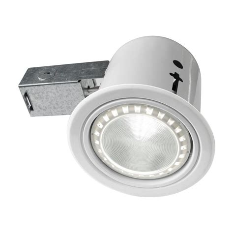 recessed heat l fixture bazz 4 5 in interior exterior white baffle recessed