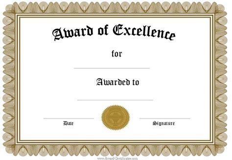 free certifications free award certificates templates editable award