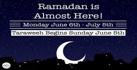 Ramadan Is Nearly Here!
