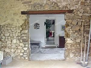 travaux extension maison maconnerie ouverture mur With faire une ouverture dans un mur porteur en pierre