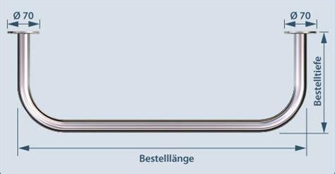 Garderobenstange Edelstahl Nach Maß by Garderobenstange U Form Edelstahl V2a Verschiedene