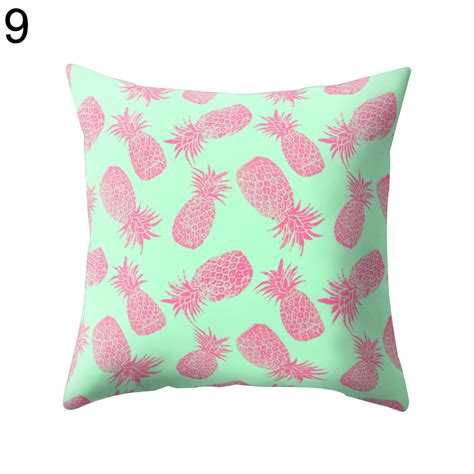 square pillow covers pineapple print polyester pillow square cushion cover