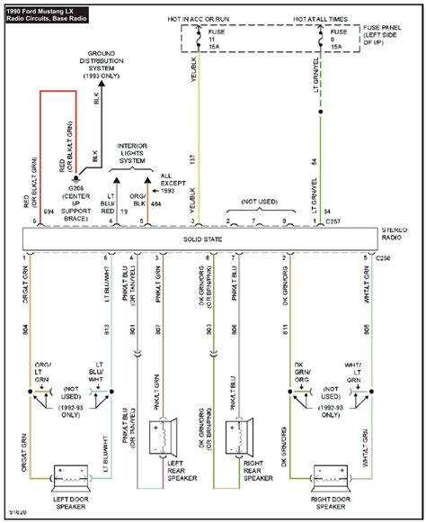 Mustang System Wiring Diagrams Radio Circuits Base