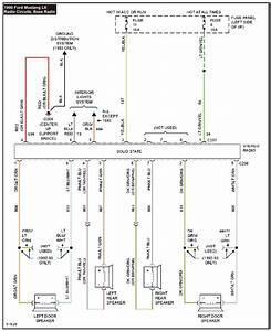 1990 Mustang System Wiring Diagrams Radio Circuits  Base