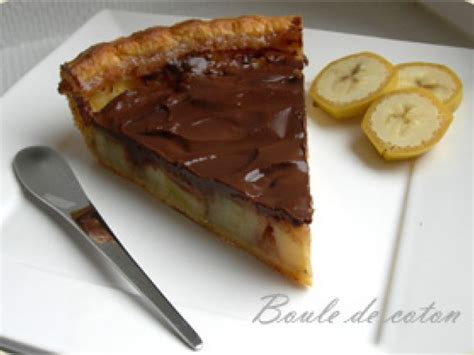 tarte a la banane pate feuilletee tarte banane chocolat recette ptitchef