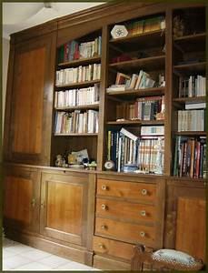 Bibliothèque Murale Bois : fabriquer une bibliotheque murale maison design ~ Premium-room.com Idées de Décoration