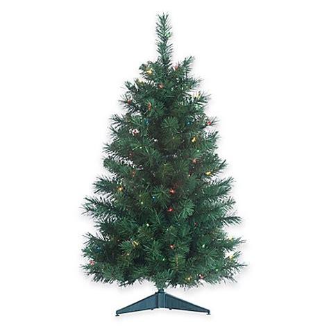 colorado spruce 3 foot pre lit christmas tree with multi