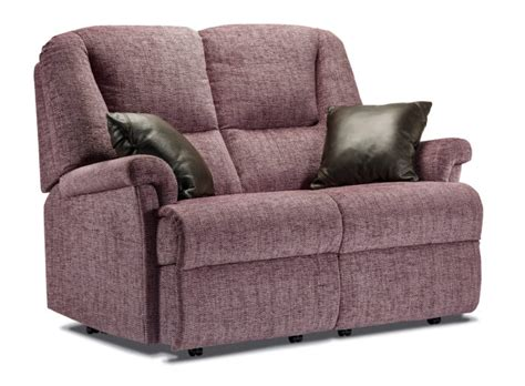 Small 2 Seater Settees by Milburn Small Fabric Fixed 2 Seater Settee Sherborne