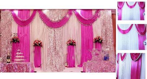 mm ice silk milk white wedding backdrop curtains gold