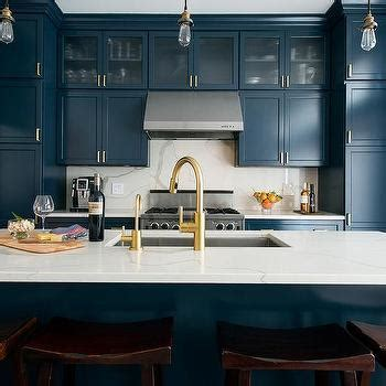 White and Blue KItchen   Contemporary   kitchen   ICI
