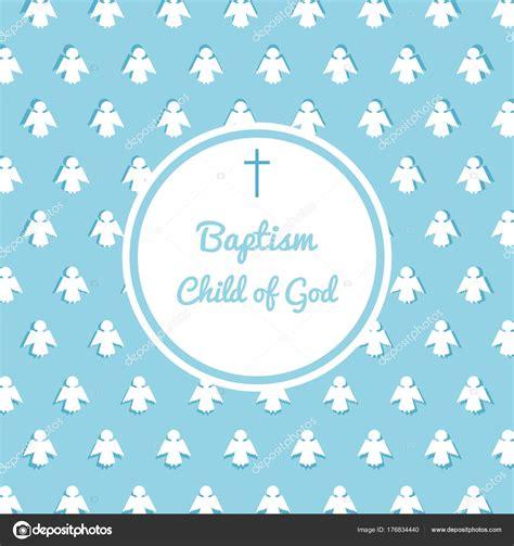 plantilla de invitación de bautismo Archivo Imágenes