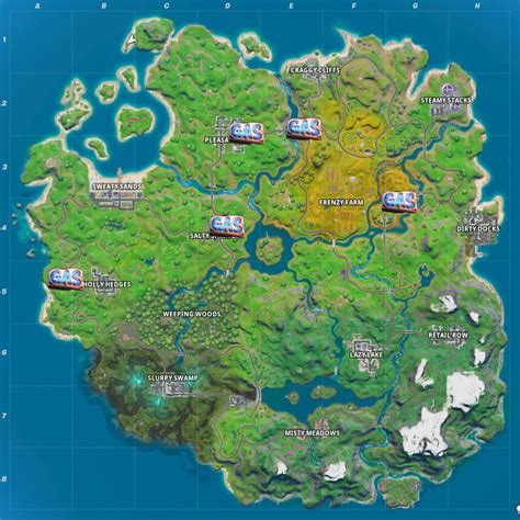 fortnite gas pump locations   deal damage