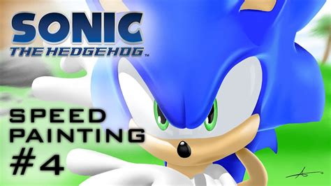 sonic  hedgehog speed painting  game style youtube