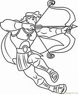 Hercules Coloring Bow Arrow Pages Ready Fight Cartoon Printable Getcolorings Coloringpages101 Fi sketch template