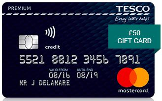 £50 Gift Card With The Tesco Premium Credit Card
