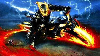 Ghost Rider Scary Creepy Skull Halloween Horror