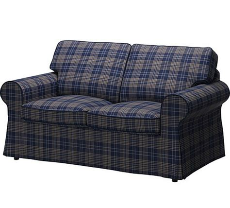 Ikea Loveseat Slipcovers by Ikea Ektorp Cover Loveseat 2 Seat Sofa Slipcover Rutna