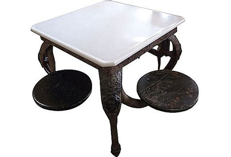 ice cream parlor table antique ice cream parlor table