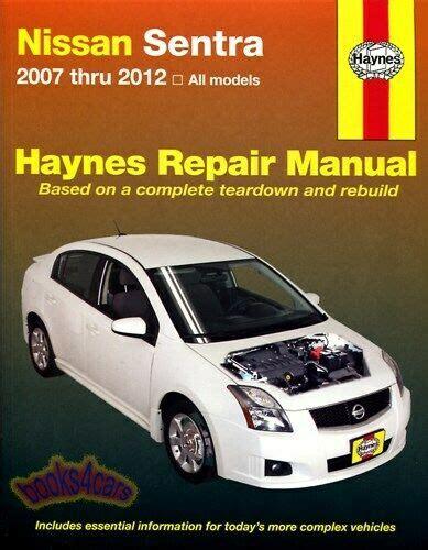 shop manual sentra service repair nissan book haynes