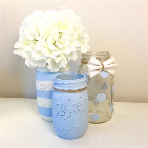Mason Jar Baby Shower Decorations by 25 Best Ideas About Baby Boy Centerpieces On Pinterest