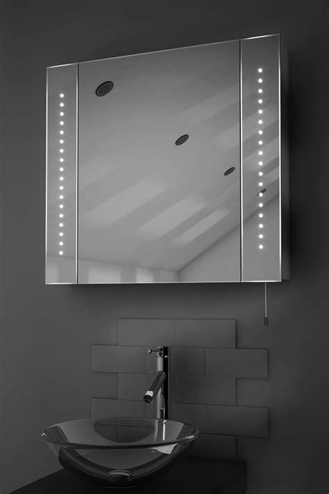regal led illuminated battery bathroom mirror cabinet