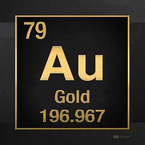 Periodic Table Of Elements - Gold - Au