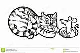 Coloring Columbine Animals Fish Cartoon Colorare Sketch Drawing Drawn Rato Gato Freehand Schizzo Gatto Mouse Pagina Drawinga Pesci Bambini Colorir sketch template