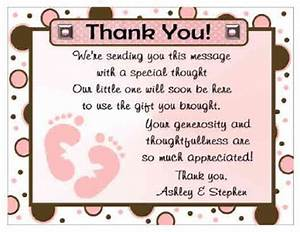 20 polkadot baby feet baby shower thank you cards ebay With thank you letter after baby shower