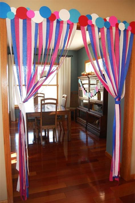 Decorating Ideas With Streamers by The Polka Dot Header Streamers With Polka Dot Header