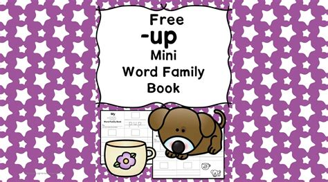 Up Cvc Word Family Worksheets -make A Word Family Book