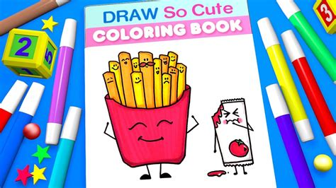 French Fries Coloring Page For Kids