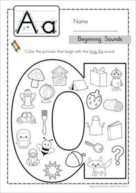 beginning sounds coloring and cases on