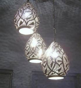Handmade moroccan brass light ceiling fixture chandelier