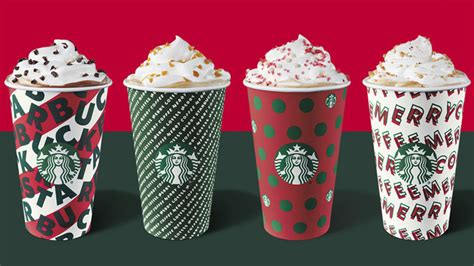 starbucks unveils  holiday cups announces reusable