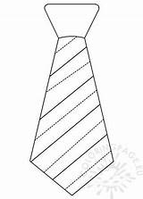 Template Necktie Striped Father Coloring Stripes Templates sketch template