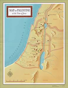 Map Of Palestine At The Time Of Jesus  Poster