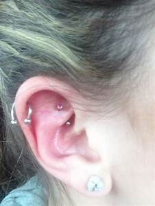 #rook #piercing #barbell #ear #cartilage #curved #inner # ...