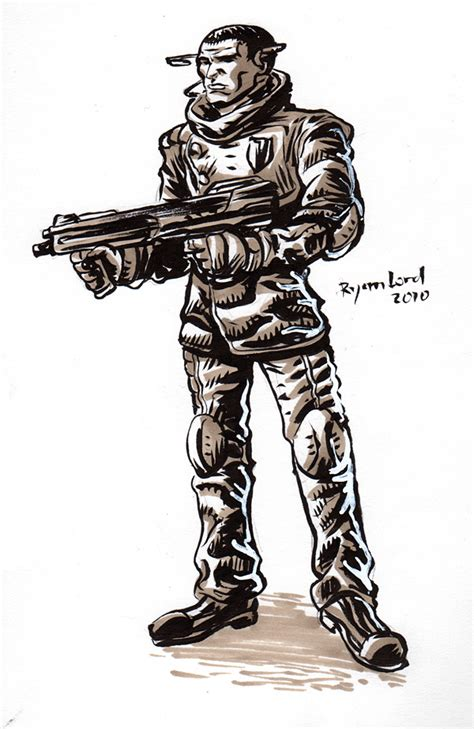 sci fi soldier concept by lord by ryanlord on deviantart