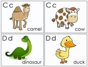 free printable animal alphabet flash cards images