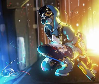 Tracer Overwatch Graffiti Skin Nikanono Comic Fanart