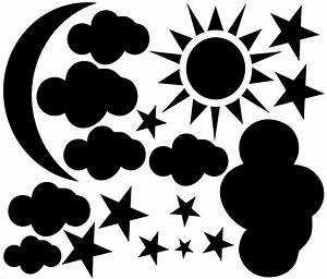 Sun,Moon,Cloud,Stars Vinyl Wall Decal · International ...