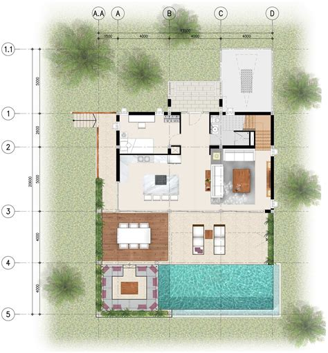 4 Bedroom Floor Plans  Bay Villas Koh Phangan Koh