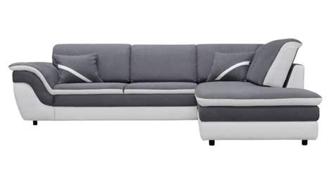 canapé a but canapé d 39 angle droit convertible quinn gris blanc canapé