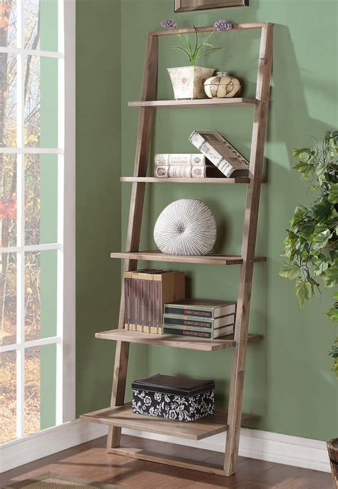 Leaning Bookcase With Drawers by Leaning Bookcase With 5 Shelves By Riverside Furniture
