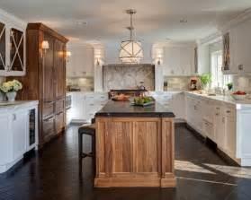 cherry wood kitchen island mixed wood cabinets houzz