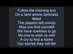 """Black Veil Brides """"Fallen Angels"""" lyrics (on screen) - YouTube"""