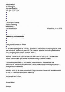 Bewerbung Als Servicekraft : mustervorlagen s ~ Watch28wear.com Haus und Dekorationen