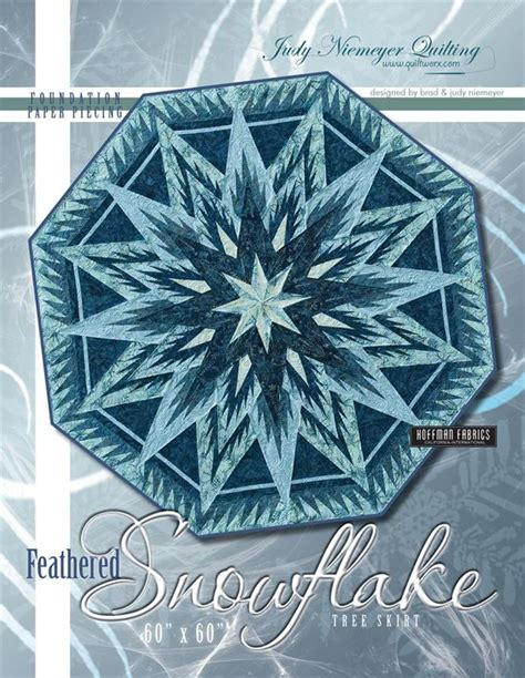 feathered snowflake tree skirt pattern trees colors and
