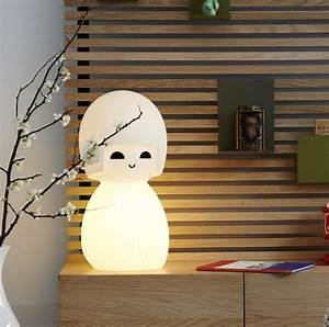 Lampe à Poser Originale : lampe poup e enfants kokeshi blanc h63cm mr maria ~ Dailycaller-alerts.com Idées de Décoration